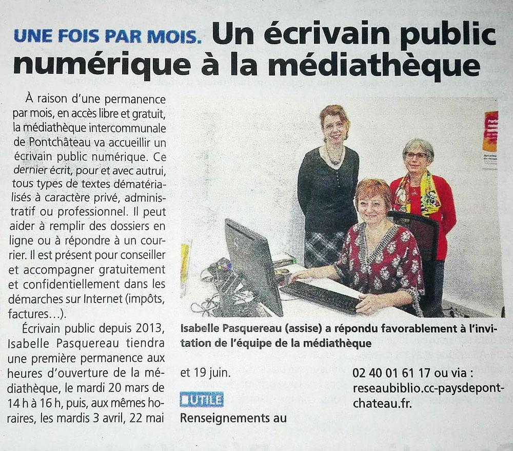 Médiathèque de Pontchateau - mars 2018