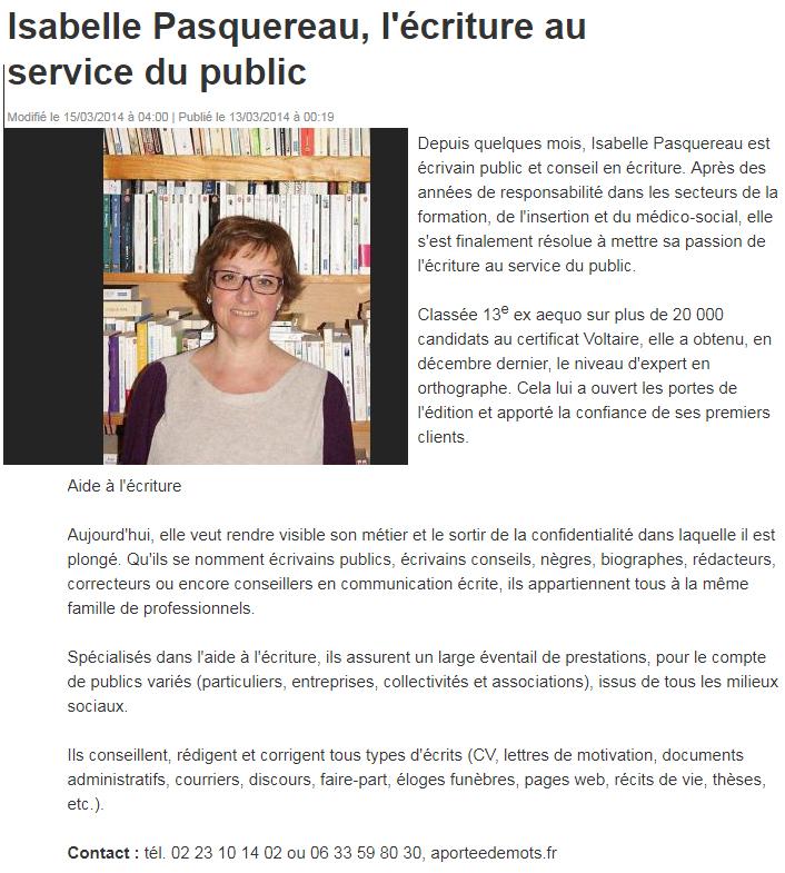 Isabelle Pasquereau écrivain-conseil© - écrivain public