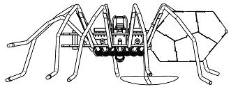 CAD Modell der Roboter-Spinne