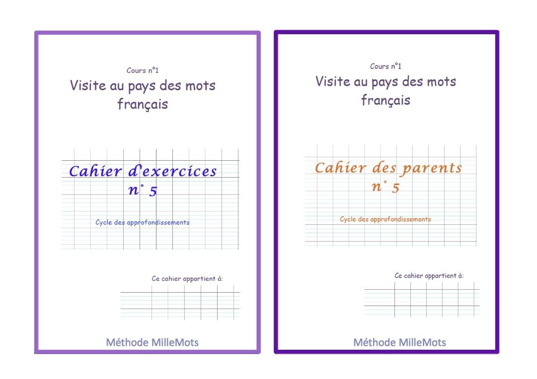 Un cahier des parents pour chaque cahier d'exercice