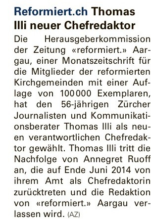 "Aargauer Zeitung""/MLZ vom 15. April 2014"