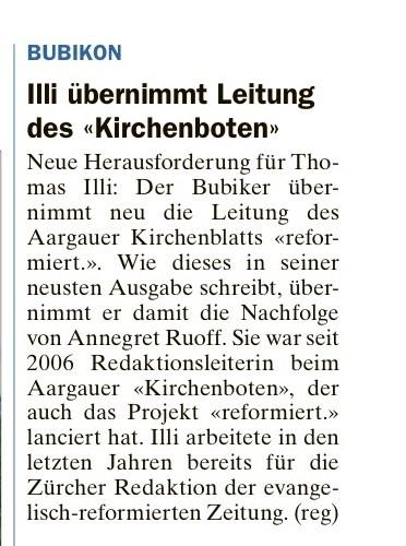 """""""regio.ch"""" vom 10. Juli 2014"""