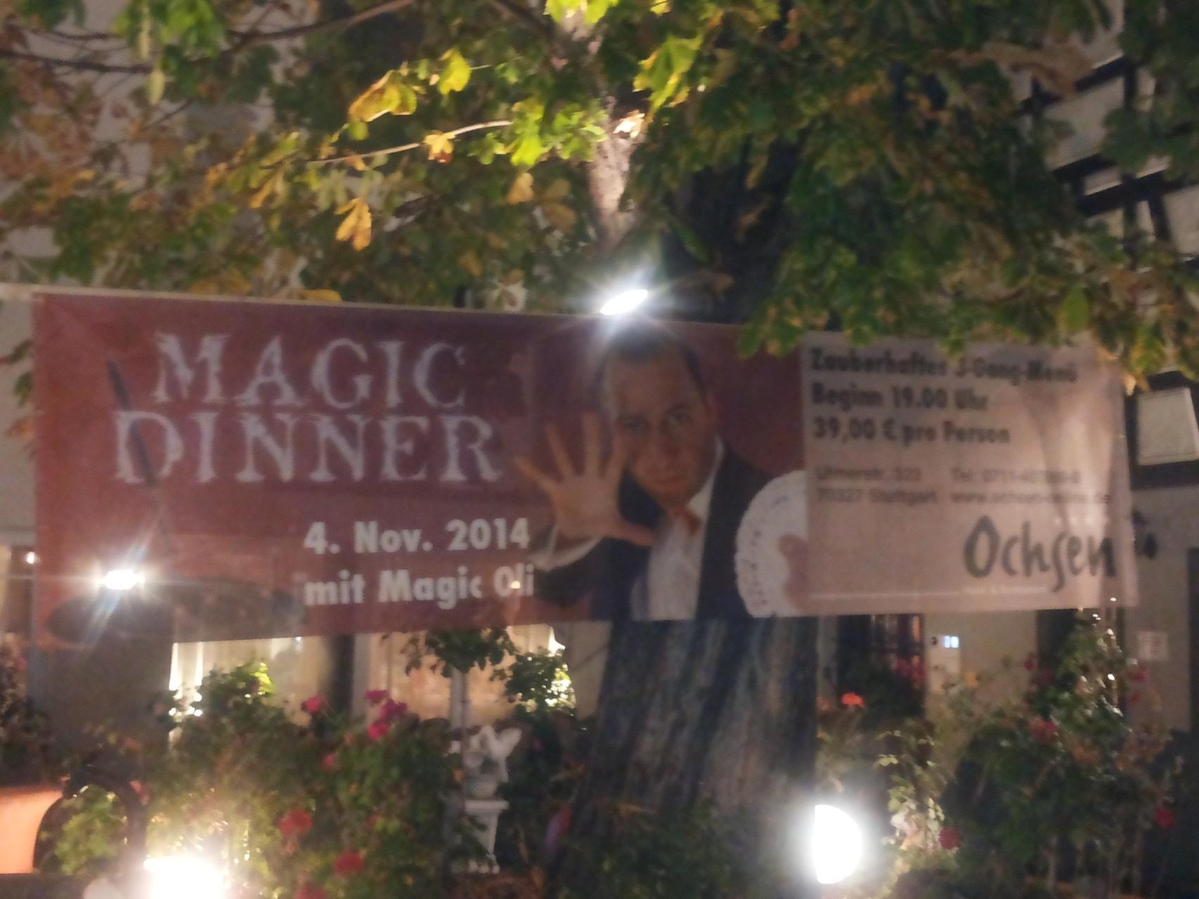 Magic Dinner Show live erleben in Ihrer Wunschlocation in Heilbronn, Karlsruhe, Pforzheim,   Heidelberg, Baden Baden,