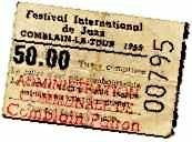 Ticket d'entrée 1959