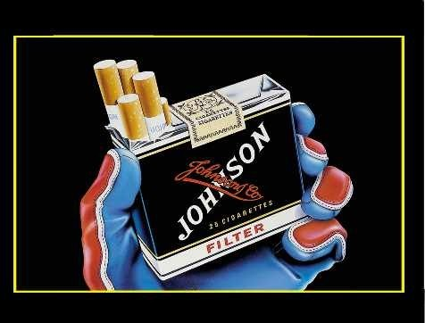 "Affiche ""cigarette Johnson """