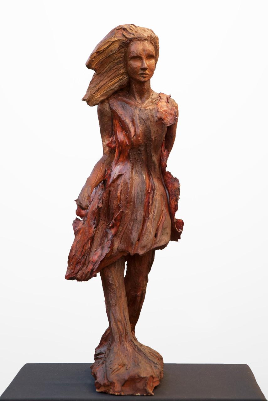 Agapa, sculpture femme, grès - vendue