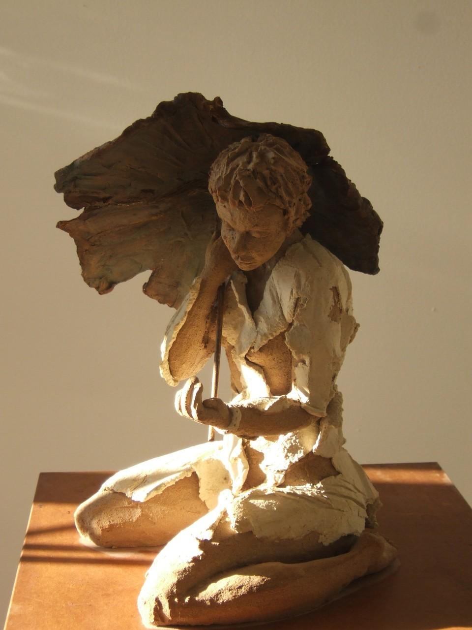 Aricia, sculpture femme, grès - vendue