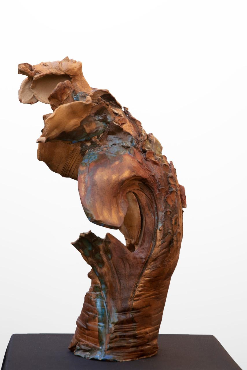 I feel love,  sculpture femme, grès et émaux - 350 euros