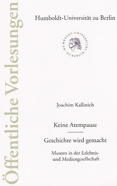 Prof. Kallinich (Vortrag) & De Toys (Zitate): Heft 122