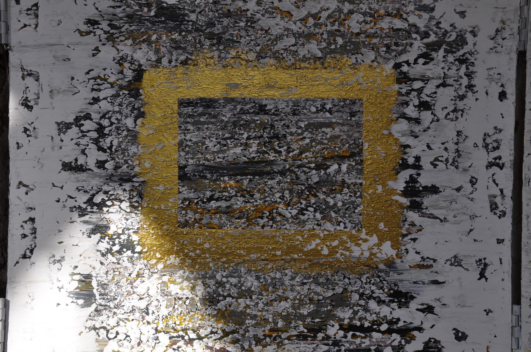 Offenbarung III: Wege ins Zentrum (Triptychon / innen) 2009 / Acryl auf Leinwand / 120 x 80 cm / Detail
