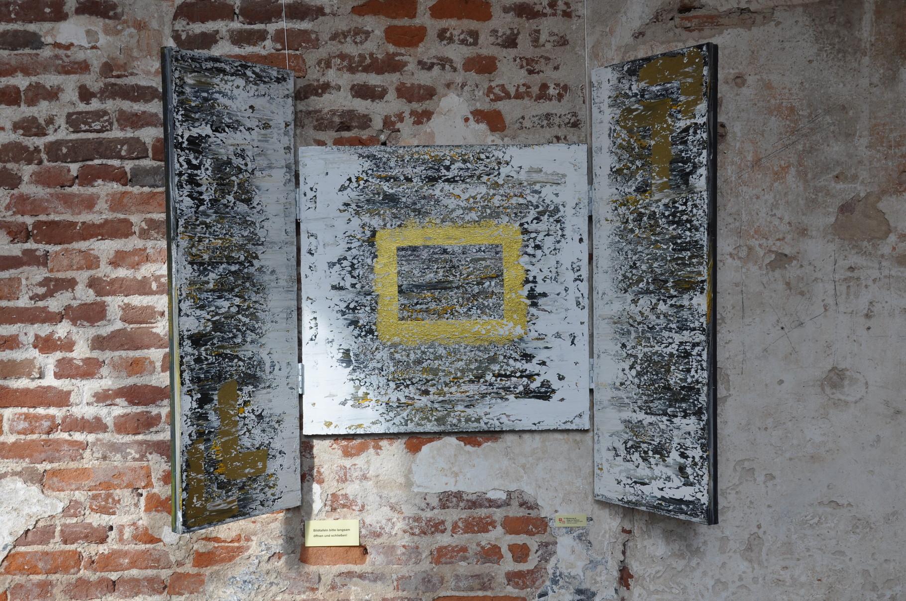 Offenbarung III: Wege ins Zentrum (Triptychon / innen) 2009 / Acryl auf Leinwand / 120 x 80 cm