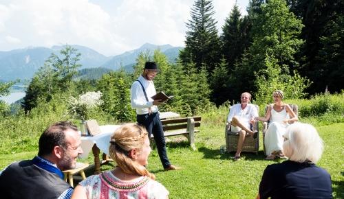 Freie Trauung Hubertusspitzalm, Freie Hochzeitsrede