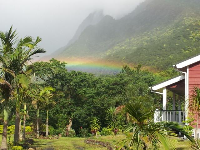 モチョッム岳と虹 Mt mocyomu and rainbow