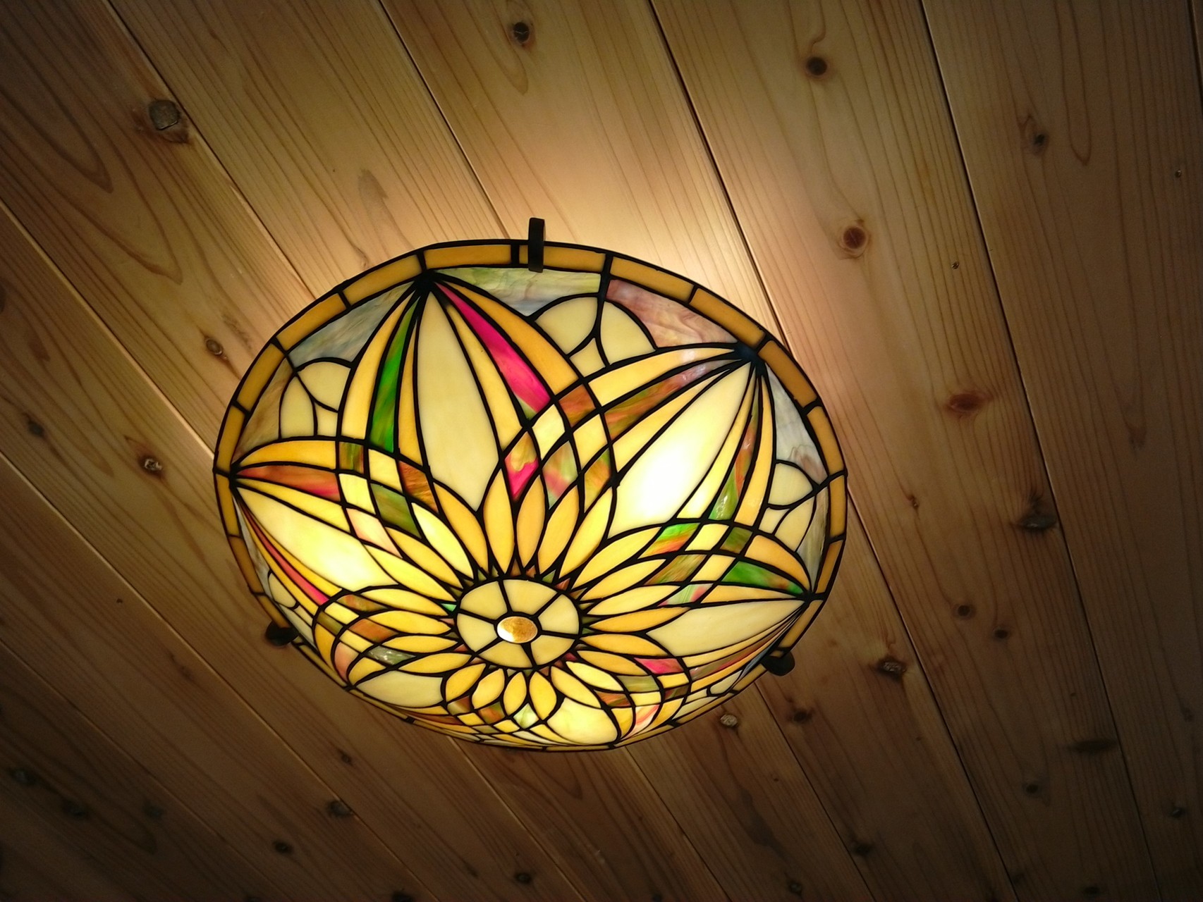 ロフトステンドグラス照明  Loft