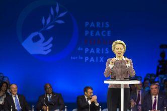 Auftaktrede von Ursula von der Leyen, Präsidentin der Europäischen Kommission (Foto: Körber-Stiftung/Olivier Rimbon Foeller)