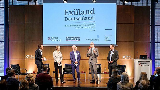 Veranstaltung im Hamburger KörberForum: »Exilland Deutschland: Herausforderungen in Wissenschaft, Kultur und Journalismus«