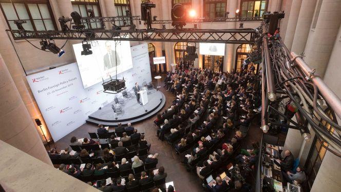 Die Auftaktrede zum Berliner Forum Außenpolitik hält traditionell der Bundesaußenminister (Foto: Marc Darchinger)