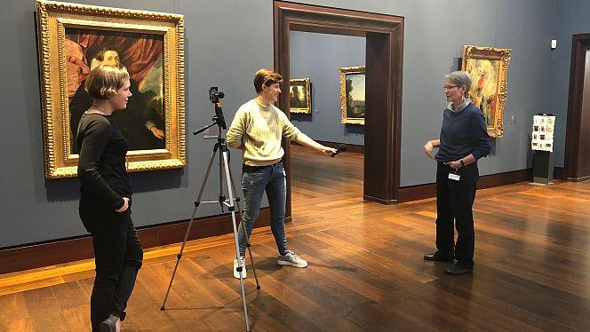 Video-Dreh in der Hamburger Kunsthalle