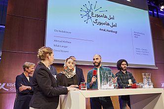 Durch die Redaktion von »Amal, Hamburg!« können unsere Veranstaltungen simultan ins Arabische und Persische übersetzt werden