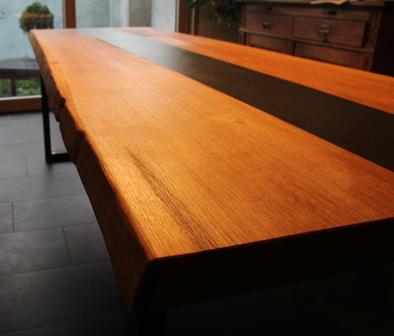 Eiche Tisch Esstisch Schiefer Rohstahl Industriedesign
