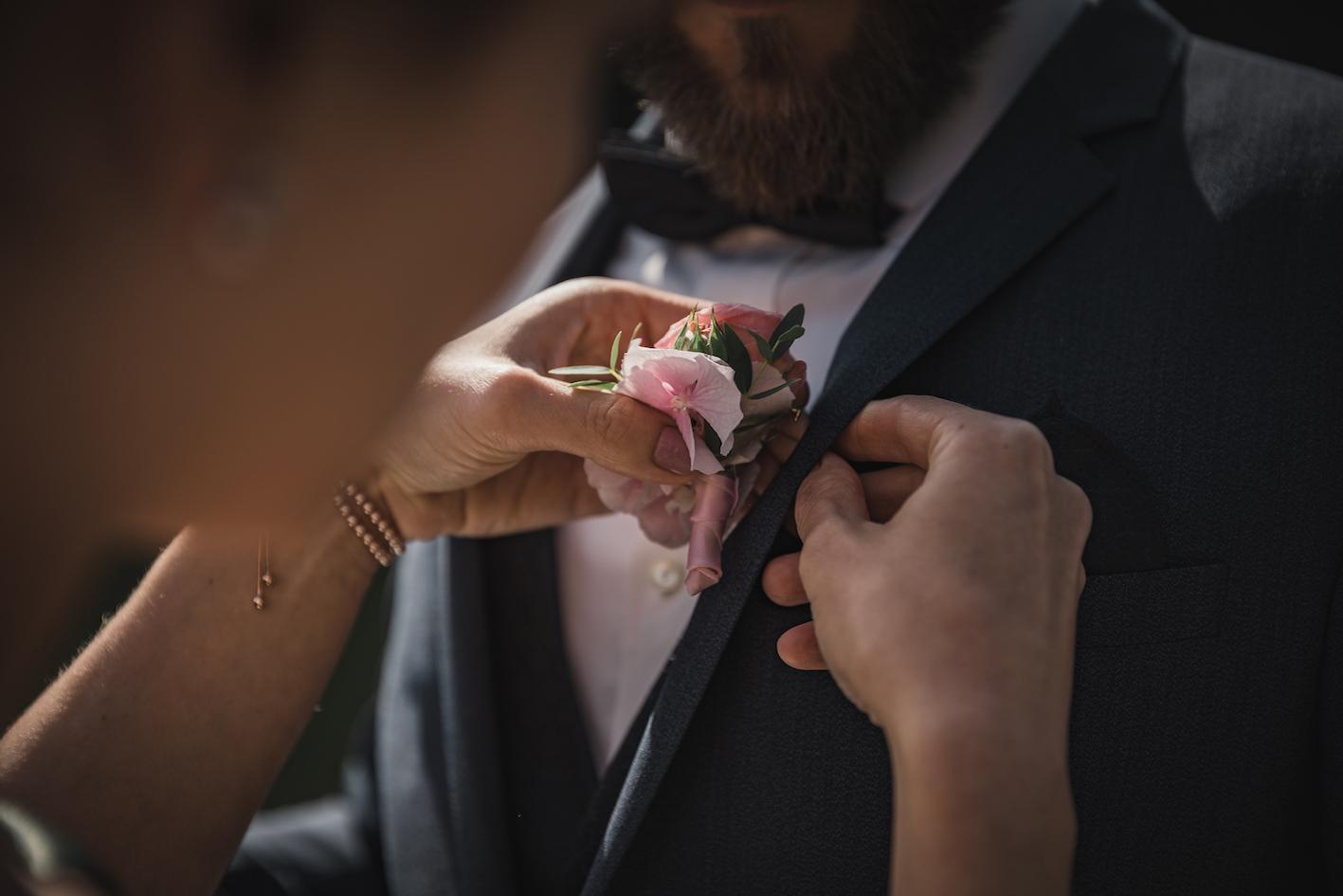 Bräutigam Blumen-Anstecker