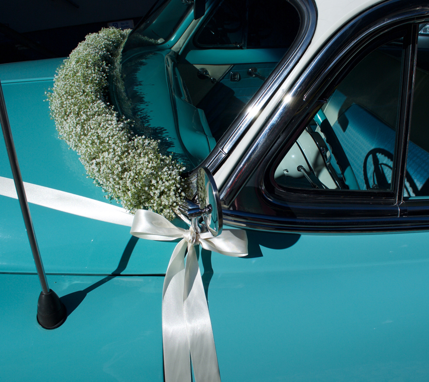 Hochzeit Autodekoration