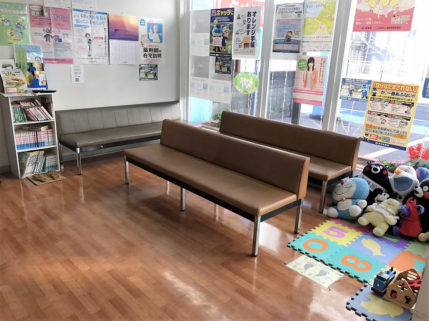 待合室にはキッズスペースもご用意しております。