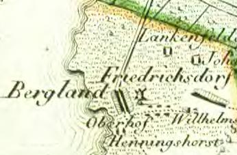 Friedrichsdorf auf einer Karte von David Gilly, 1789