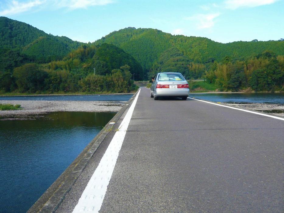 落ちるな危険、佐田沈下橋【高知観光スポット】