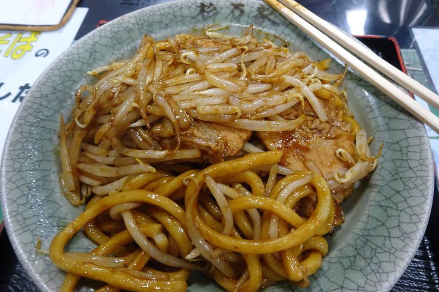 杉乃家|極太麺のB級グルメ「なみえ焼そば」【福島・二本松グルメ】