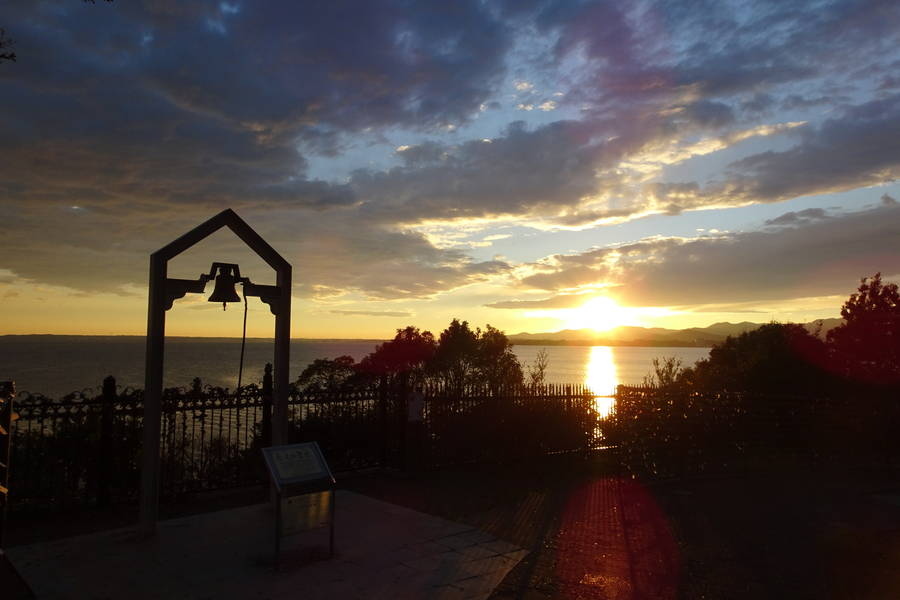 EXPASA浜名湖 恋人の聖地でもあるサービスエリアで夕陽に黄昏れる【静岡観光スポット】