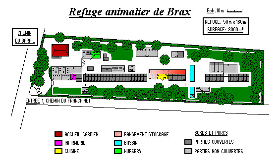 Plan du Refuge animalier de Brax 47