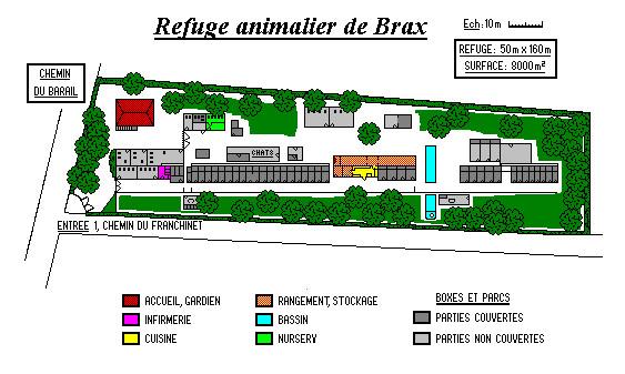 Plan du Refuge animalier de Brax 47