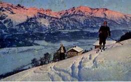 Schneeschuhläufer am Glungezer, um 1900