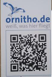 QR-Code von Ornitho.de in unseren Naturschutzgebieten (P. Zeelen)