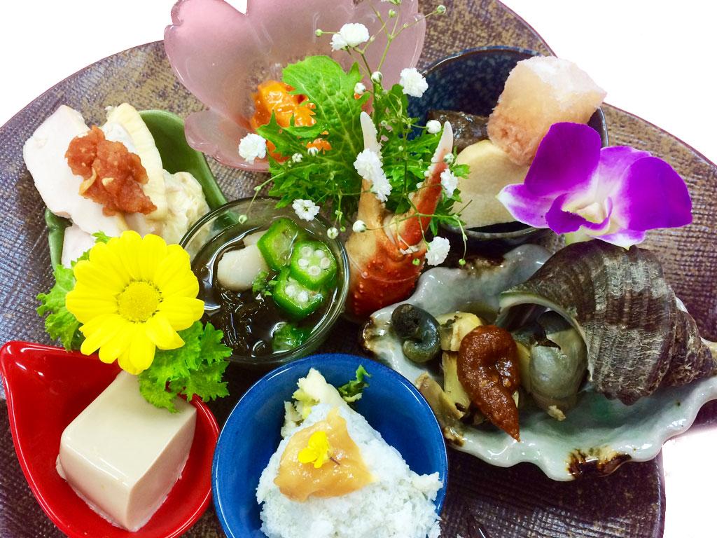 ご宴会コース料理の前菜例