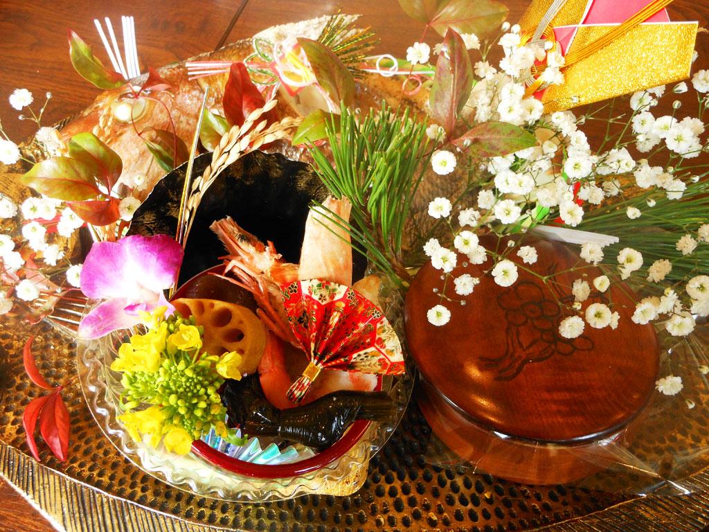 お食い初め膳(5,000円)の例