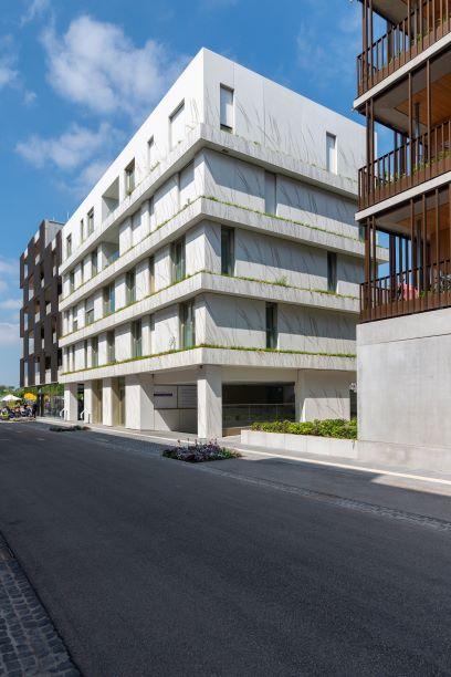 Ebenfalls ein Projekt  auf der BUGA 2019: Ein Mehrfamilienhaus mit gestalteter Fassade. Foto: artismedia gmbH