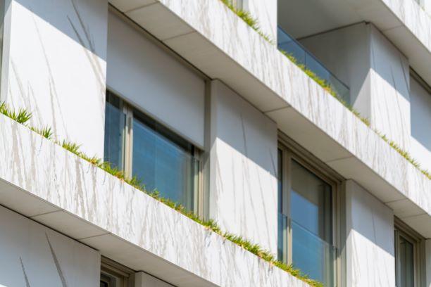 """Die Fassade wurde im """"graphic concrete-Verfahren"""" hergestellt. Foto: artismedia gmbH"""