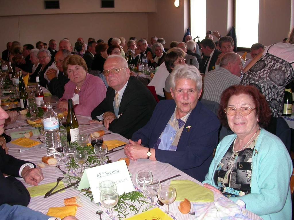 Le Banquet à LEXY (Congrès UD 54 et Centenaire)  --- 135 personnes....
