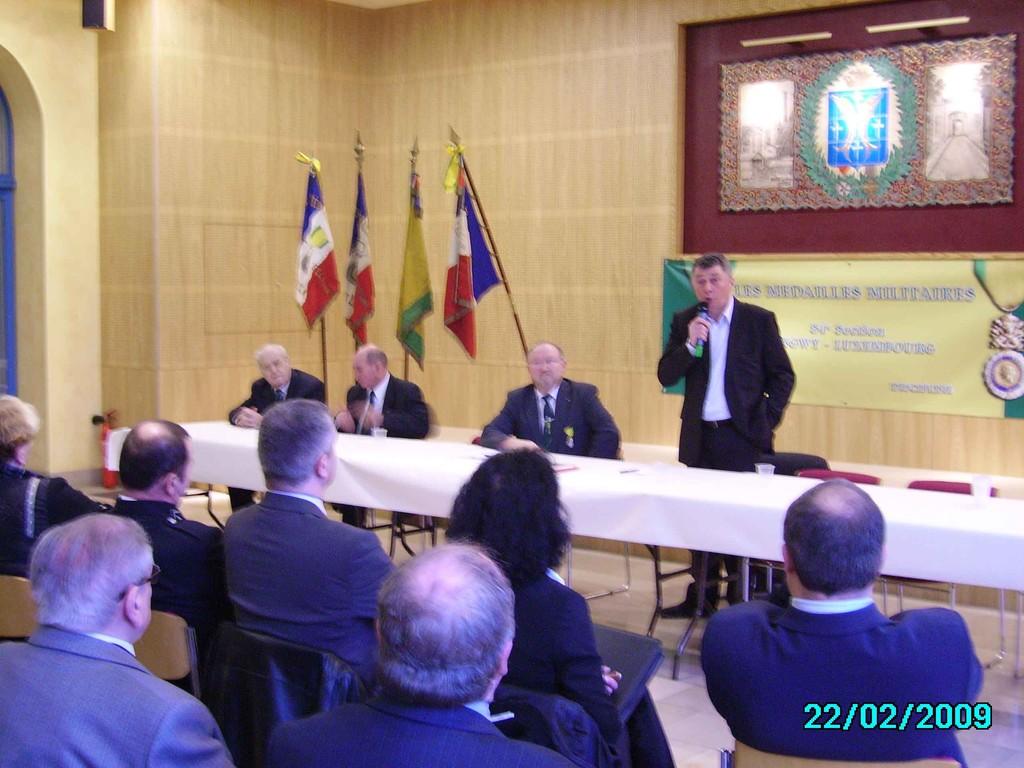 Discours M. JACQUE Maire Longwy au nom des élus présents.