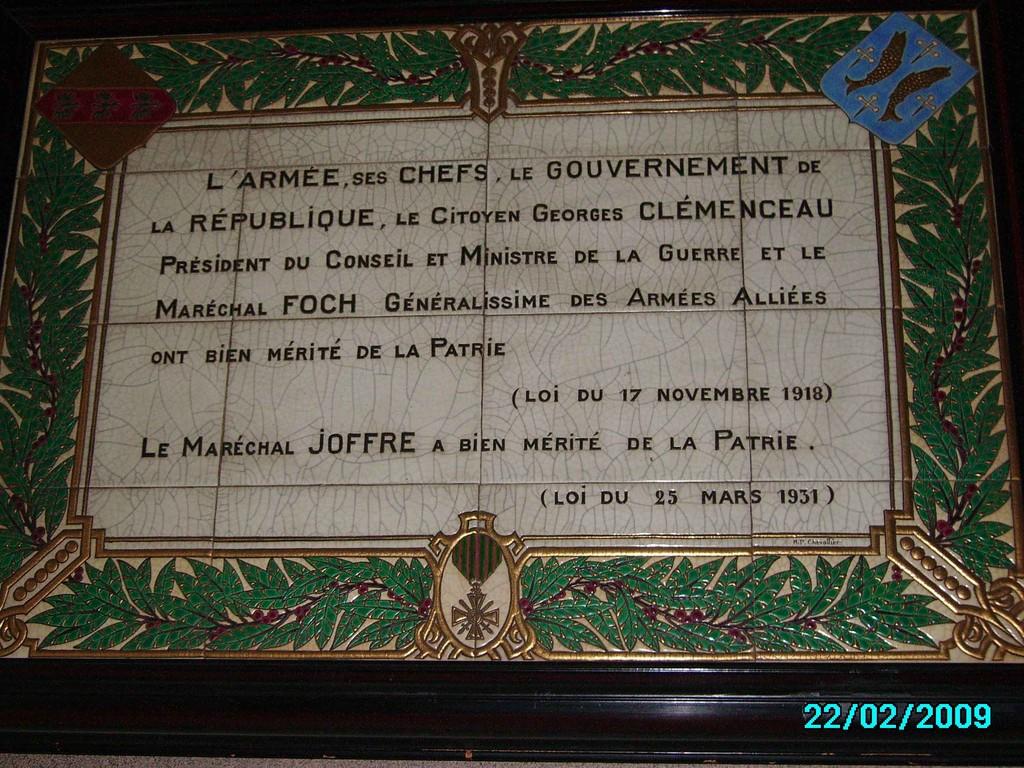 Entrée Hôtel de Ville de Longwy -- photos Guy Lavernhe