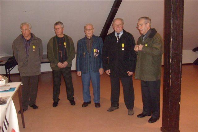 Les décorés : Messieurs BERTIN, HIPPERT, KACZMARSKI et PEUCH, NAUDIN et RACHON