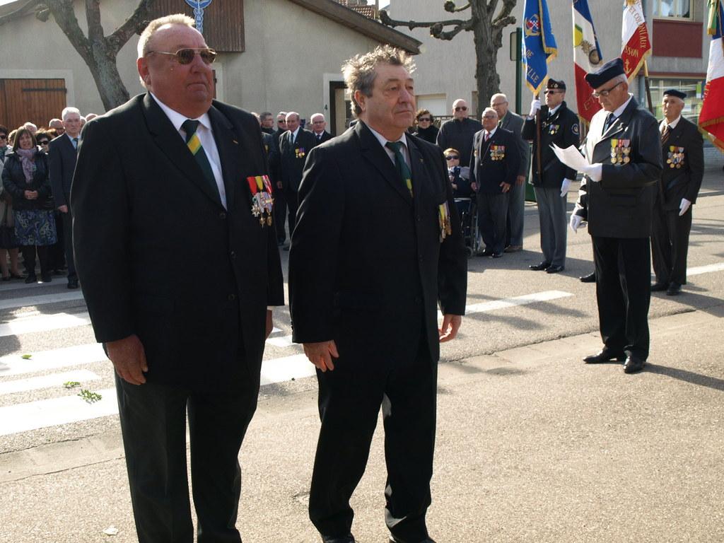 Pdt POUPEL Dominique  et  Pdt BOURGUIGNON Louis.