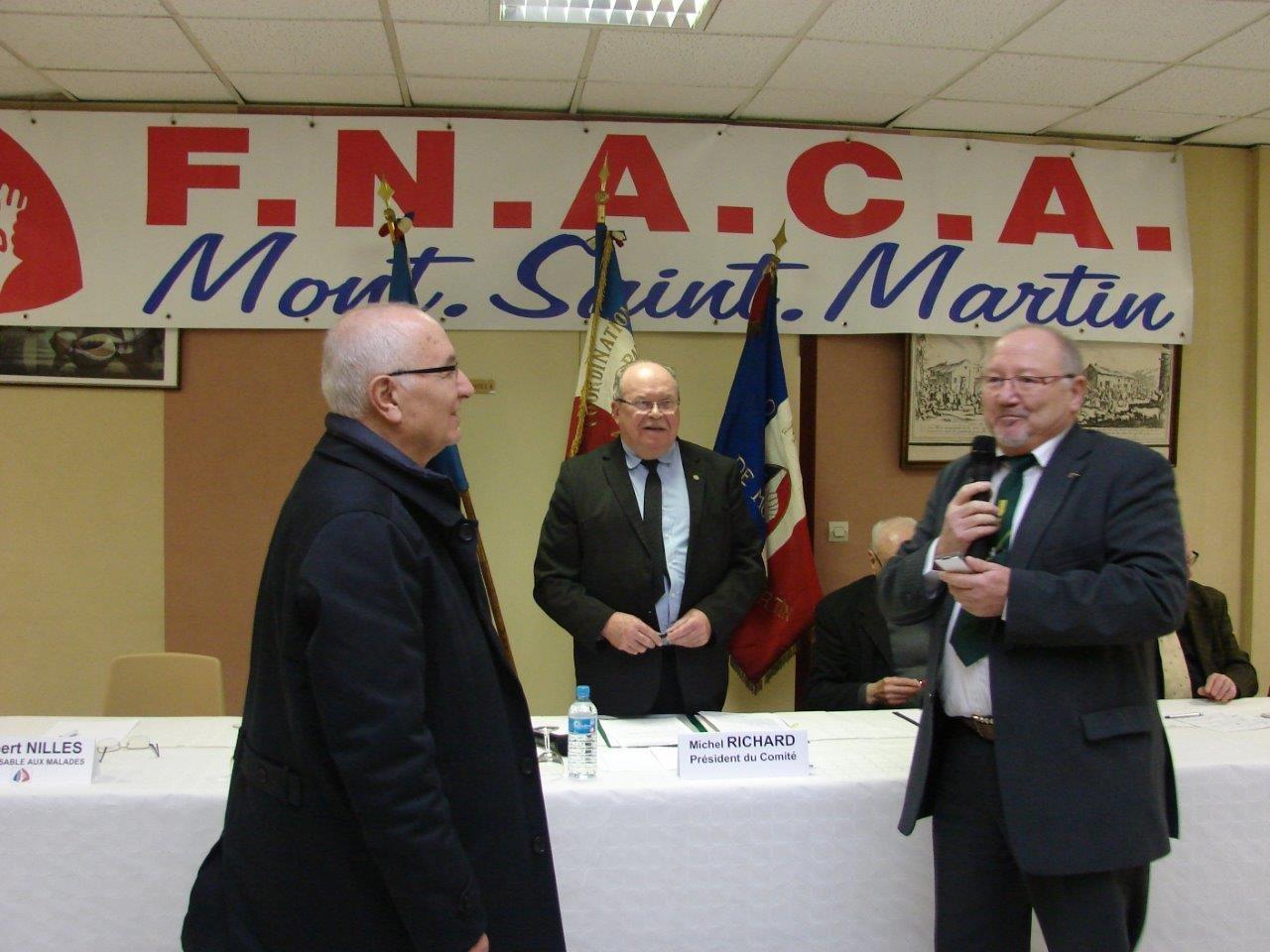 Lors AG de kla Fnaca de Mt St Martin, félicitations au récipiendaire