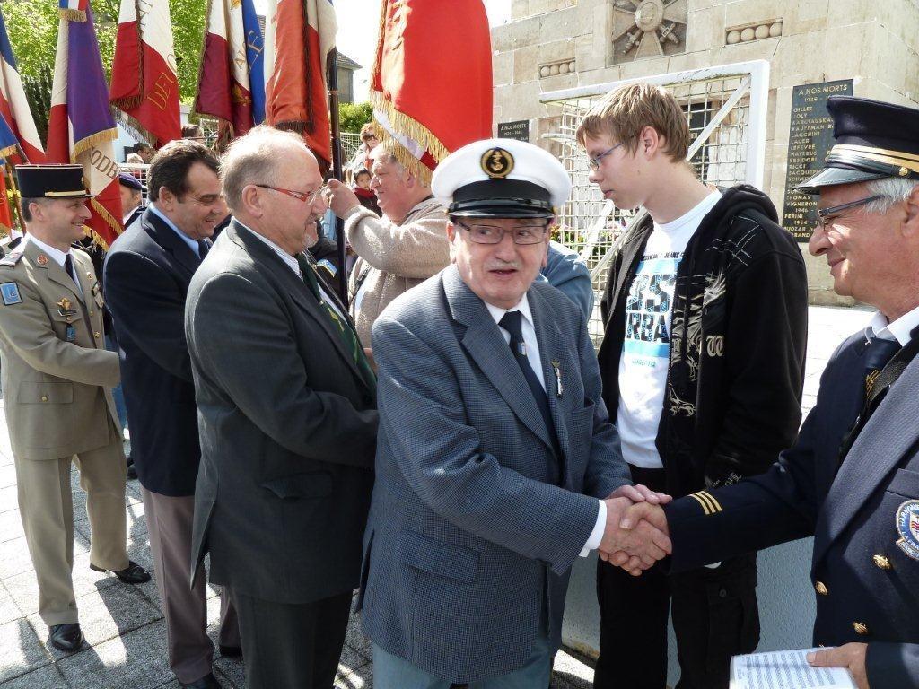 M. Peyrou Pdt Souvenir Français Longwy