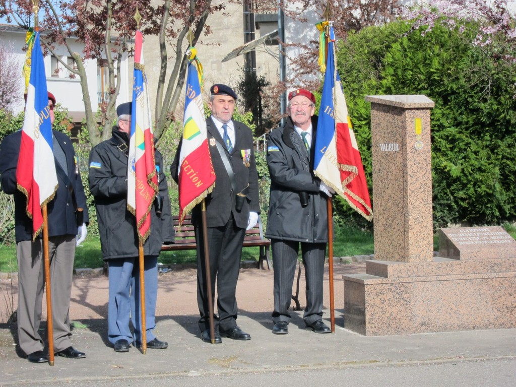 Clause et Guillaume, porte-drapeaux 84° Section (France- Luxembourg)