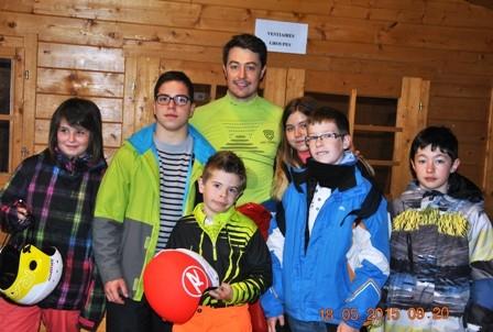 la section ski avec Colin Farell, recordman du monde de vitesse sur ski indoor, au Snowhall
