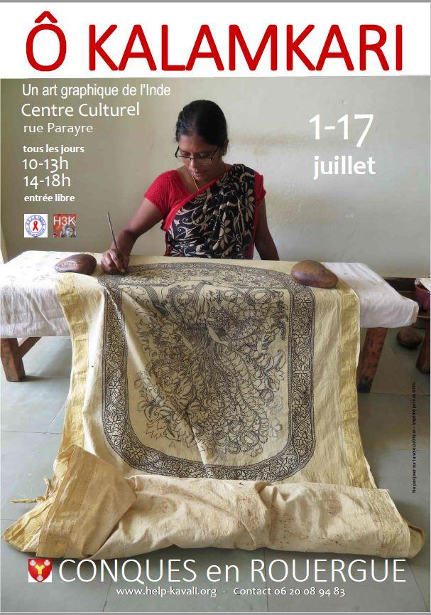 Exposition Kalamkari à Conques