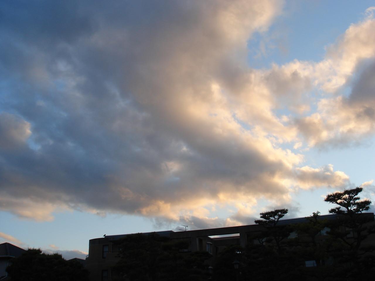 阪神方面の風景は